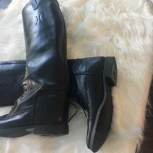 Ladies black riding boots
